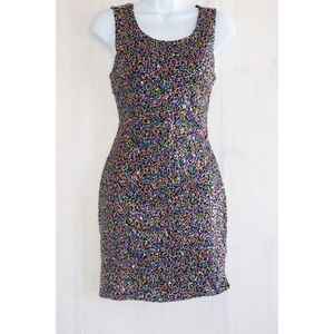 Juniors' Candie's Sequin Body Con Dress Large